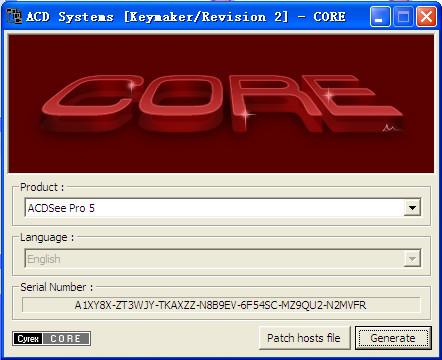 ACDSee Pro 5+acdsee 14 通用注册机截图0