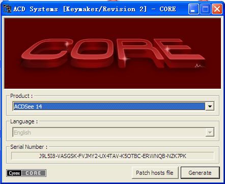 ACDSee Pro 5+acdsee 14 通用注册机截图1
