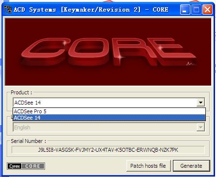 ACDSee Pro 5+acdsee 14 通用注册机截图2