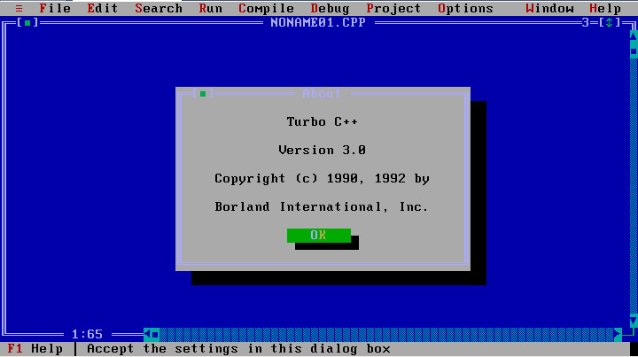 Borland Turbo C++(很古老的c语言编辑器)截图0