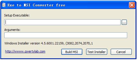 exe转msi(EXE to MSI Converter)截图0