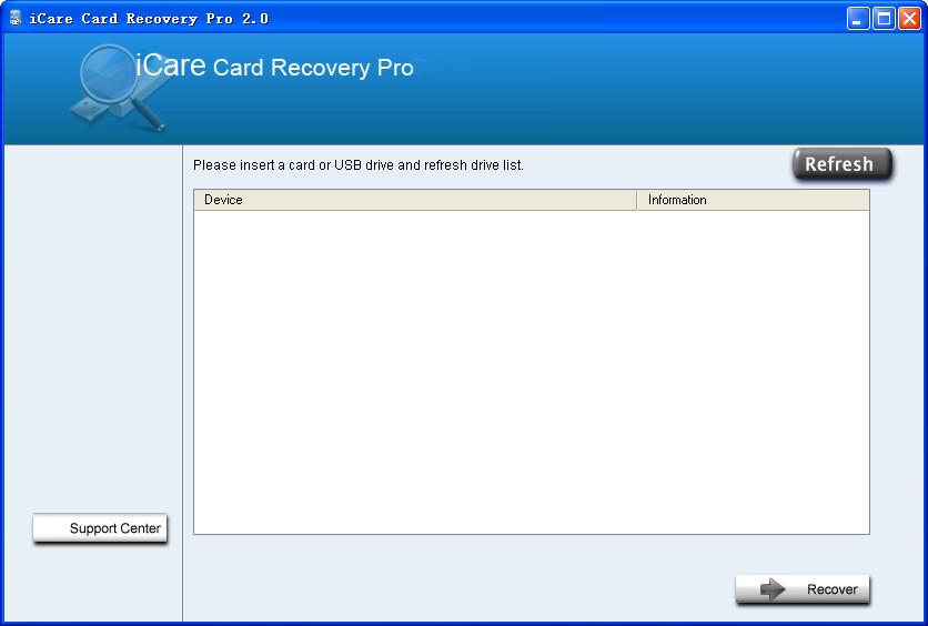移动存储卡数据恢复工具(iCare Card Recovery Pro)截图0
