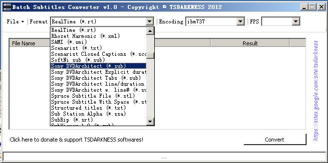 字幕文件批量转换工具(Batch Subtitles Converter)截图0
