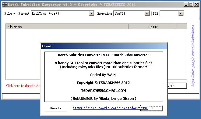 字幕文件批量转换工具(Batch Subtitles Converter)截图1