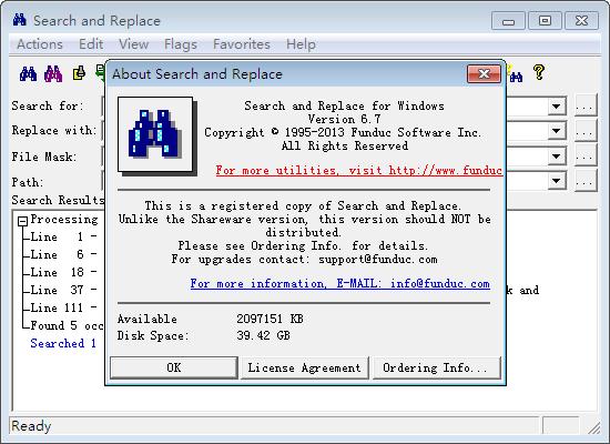 文件搜索替换工具(Search and Replace)截图2