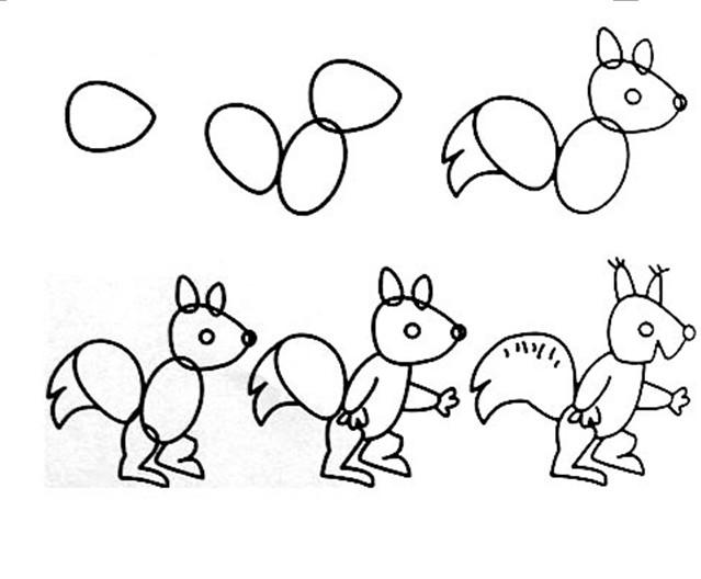 可爱小动物简笔画图片)