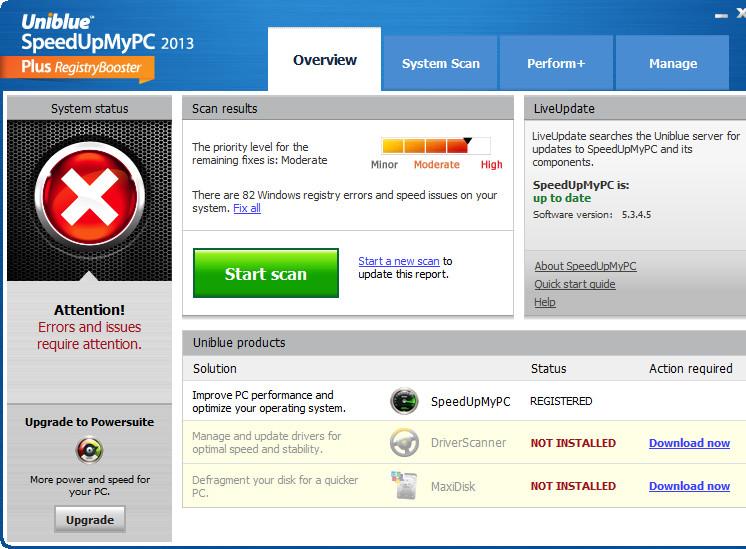 系统优化软件(SpeedUpMyPC 2014)截图1