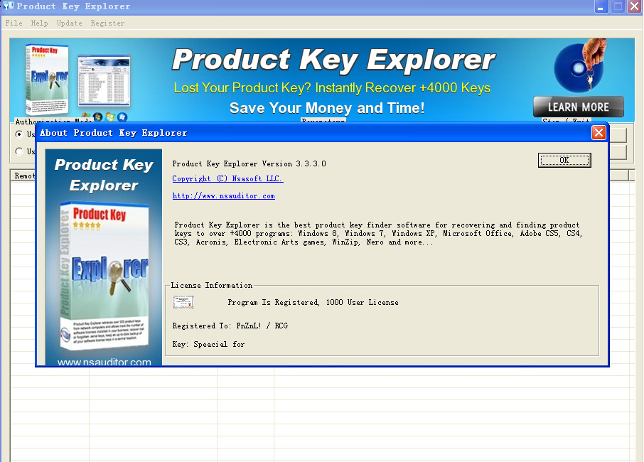 Product key explorer v3 2 7 0 setup key