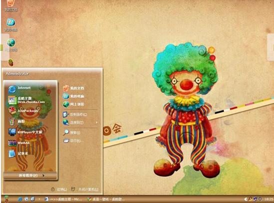 小丑生日会电脑桌面主题免费安装版
