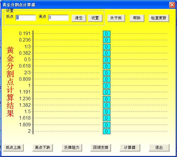 股票交易计算器(黄金点计算)截图1