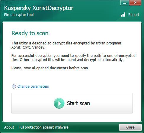 卡巴斯基病毒专杀工具(XoristDecryptor)截图0