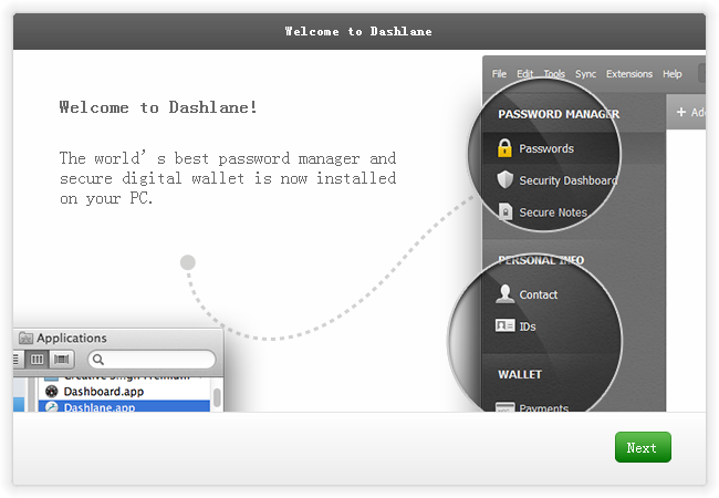 密码管理软件(Dashlane)截图0