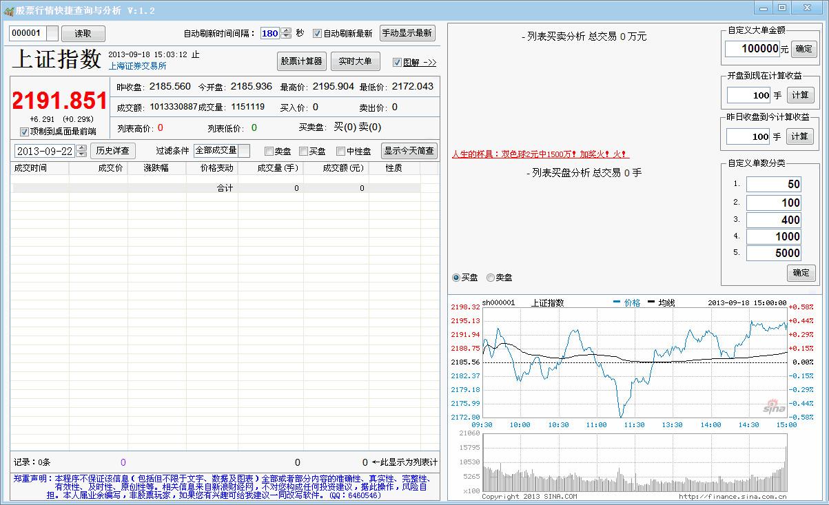 股票行情快捷查询与分析软件截图0