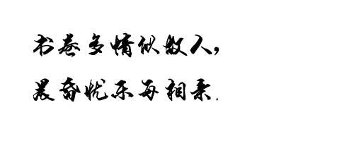 段宁毛笔行书字体截图0