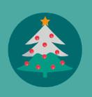 圣诞节各种元素icon图标矢量素材