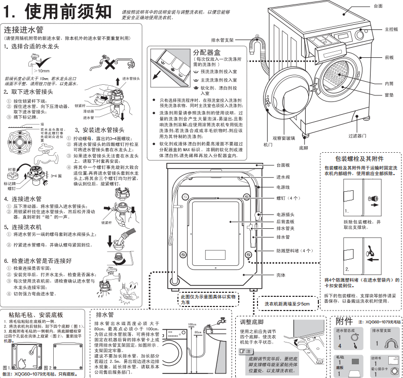 海尔xqg601079是滚筒式全自动洗衣机,下面小编给大家带来的是haier