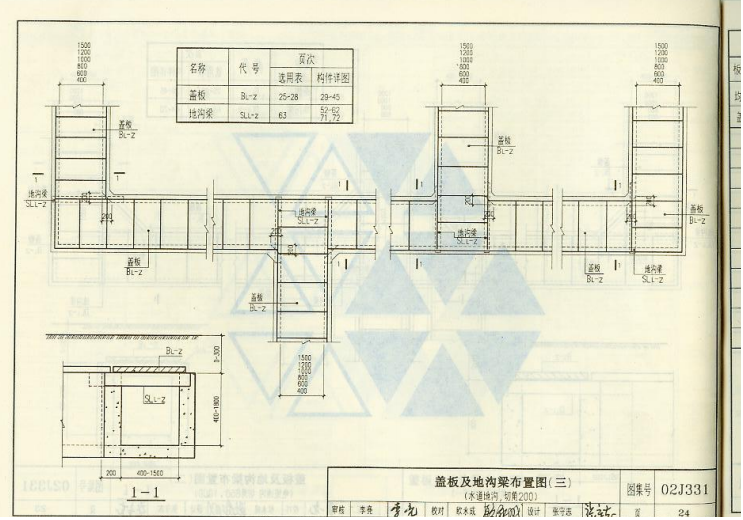 02j331地沟及盖板电子版标准图集