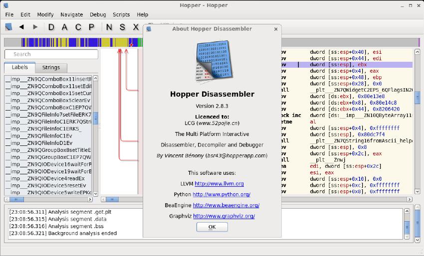 多平台反编译工具(Hopper)截图0