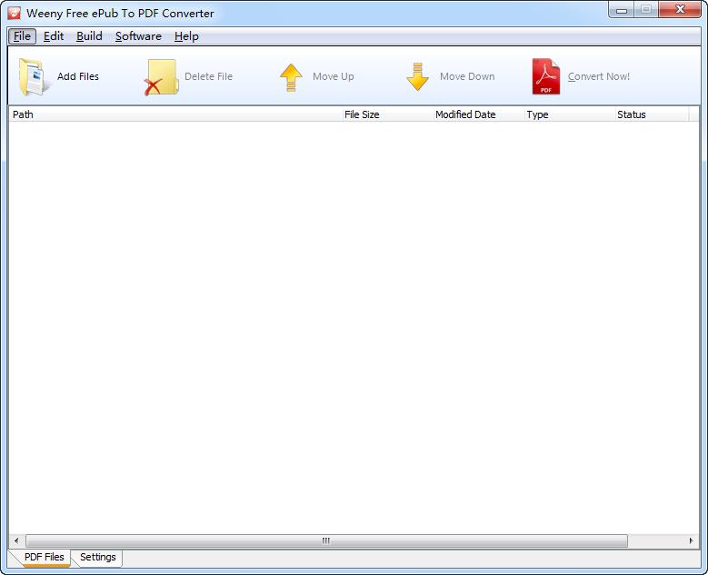 文档格式转换器(Weeny Free ePub to PDF Converter)截图0