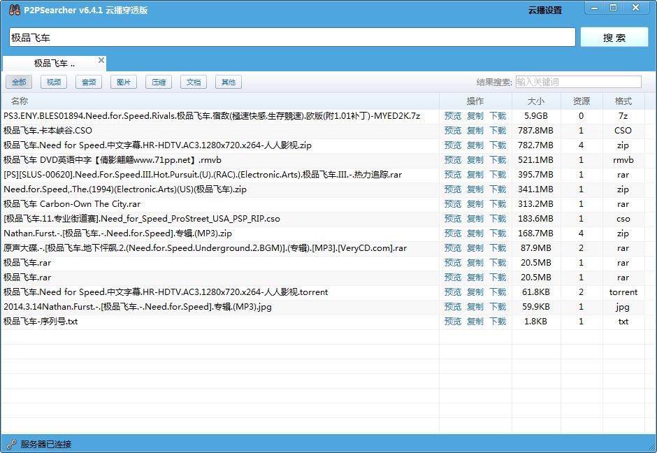 p2p种子搜索器绿色免安装版(p2psearcher)截图0