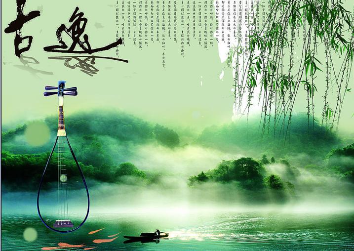 竹韵古典水墨背景图片素材ppt电子免费版下载_东坡下载
