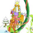 圣诞节电子小报彩色a4打印版(空白模板)