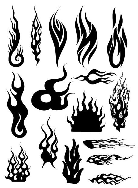 火焰素材psd|黑白火焰psd格式免费版下载