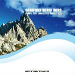蓝色大气旅游画册排版设计模板素材