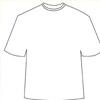 平面空白T恤设计模版