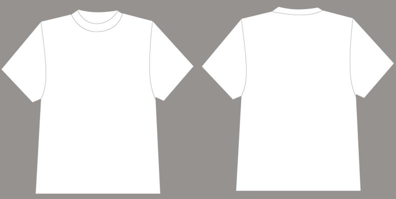 平面空白T恤设计模版截图0