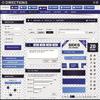 蓝色调网页设计元素矢量素材