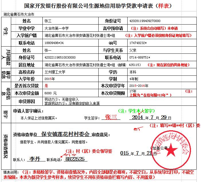 高校助学贷款申请表_助学贷款申请表下载-生源地助学贷款申请表模板(样表)2015最新版 ...