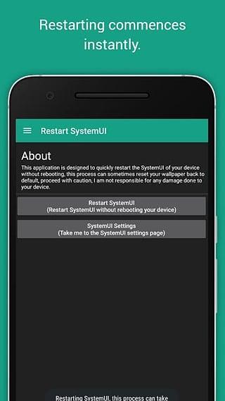 重启SystemUI截图