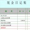 现金日记账电子表格