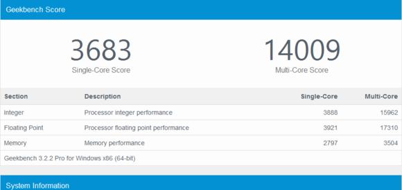 Geekbench4.0(电脑跑分测试)截图0
