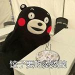 熊本熊饺子要吃烫烫的表情包完整无水印版