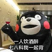 熊本熊一人我饮酒醉表情包期末版免费下载