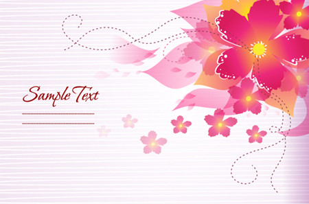 粉色立体抽象花朵边框psd素材免费版