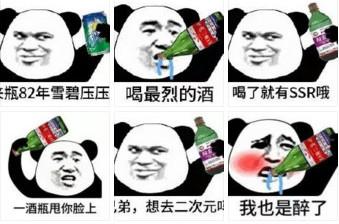 熊猫喝酒1表情令人作呕表情包猫猫图片