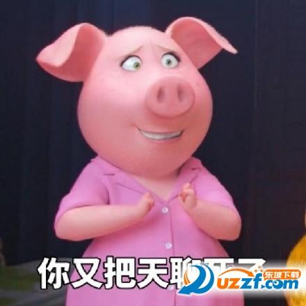 今天也是精致的猪猪女孩表情图片表情包搞笑上朝图片