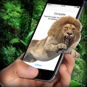 狮子在屏幕上可怕的笑话