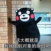 熊本熊单身原因的表情包无水印免费版