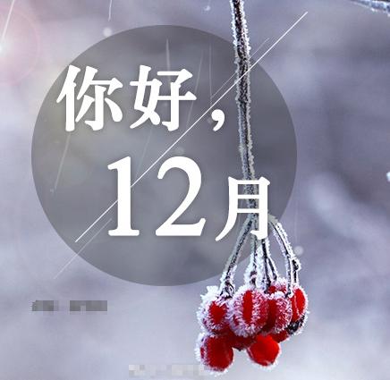 你好12月祝福语说说无水印版