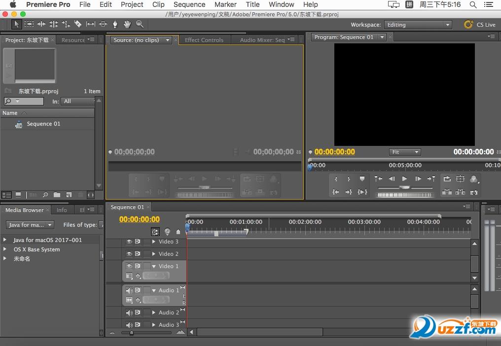 Premiere cs5 mac 苹果版截图1