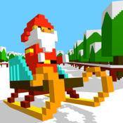 滑雪跑酷像素U乐平台
