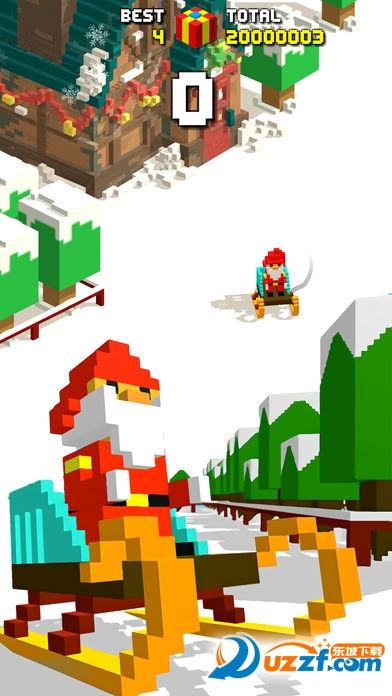 滑雪跑酷像素U乐平台截图