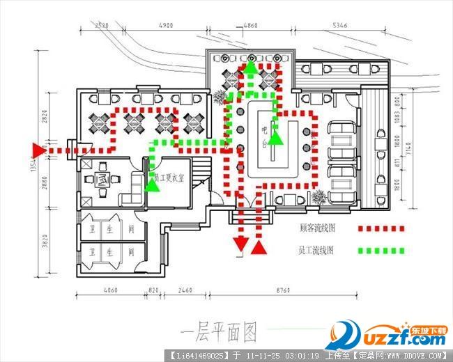 咖啡厅CAD图纸格式免费下载|咖啡厅CAD图纸maccad成打印pdf素材文件图片