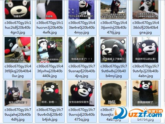 熊本熊女神和女汉子区别表情包大全截图1