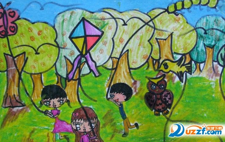 儿童春天放风筝图画大全2017 最新版