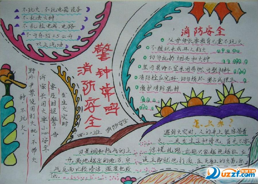 2017幼儿园森林防火手抄报图片大全精美版